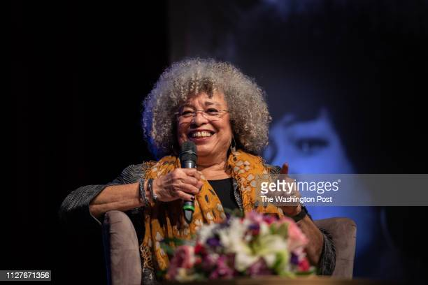 Angela Davis speaking at the Birmingham Committee for Truth and Reconciliation event at the Boutwell Auditorium on February 16 2019 in Birmingham Al...