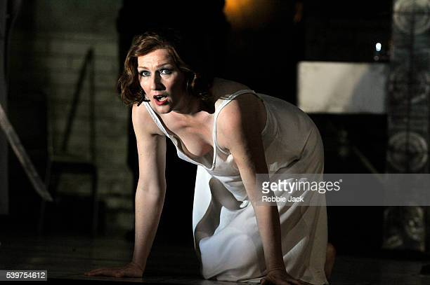 """Angela Denoke as Salome in the Royal Opera's productin of Richard Strauss's """"Salome"""" directed by David McVicar and conducted by Hartmut Haenchen at..."""