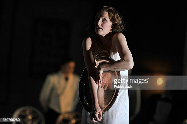 Angela Denoke as Salome in the Royal Opera's production of Richard Strauss's Salome directed by David McVicar and conducted by Andris Nelsons at the...