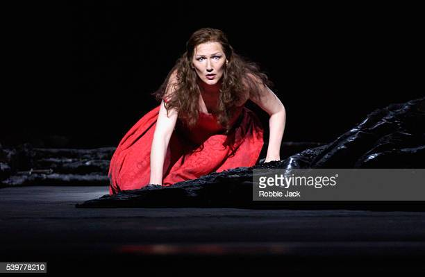 Angela Denoke in the Royal Opera production of Erwartung at the Royal Opera House, Covent Garden, London.