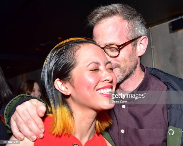 Angela Dimayuga and Spike Jonze attend the Spring Party to benefit Aperture and to celebrate The Photographer in the Garden at Public Hotel on April...
