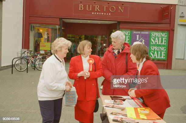 Angela Eagle and her twin sister Maria campaigning in Liverpool April 1997 Both Angela and her twin sister Maria are Labour politicians Angela Eagle...