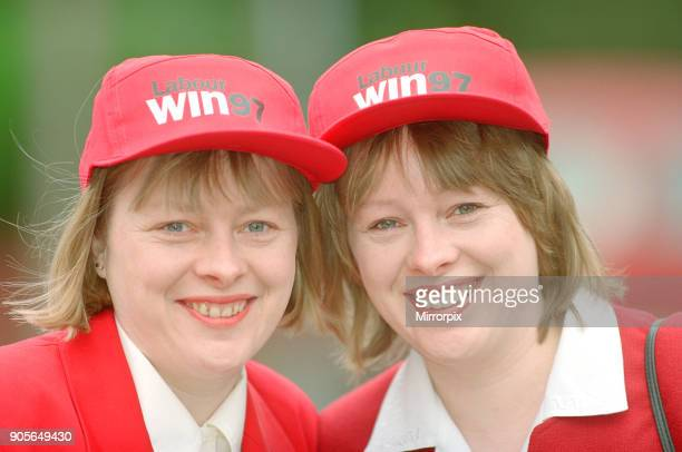 Angela Eagle and her twin sister Maria pictured in Liverpool April 1997 Both sisters are Labour politicians Angela Eagle is fighting Jeremy Corbyn...