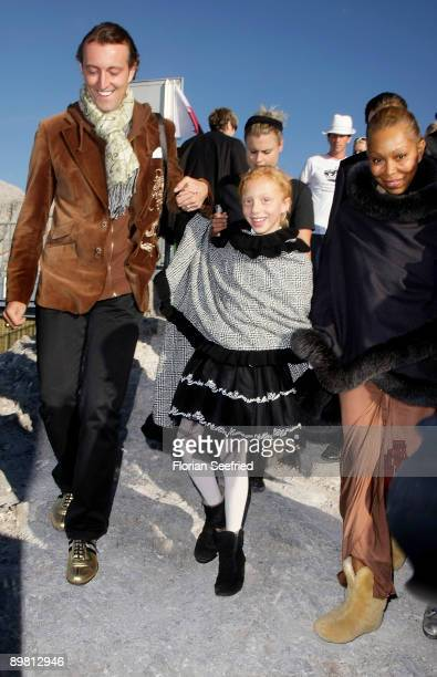 Angela Ermakova and daughter Anna Ermakova and Mario Max prince SchaumburgLippe attend 'Fahion On Ice Show' and desert concert Mozart quintet at...