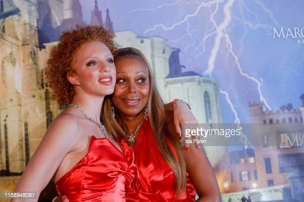 Angela Ermakova and her daughter Anna Ermakova attend the Remus Lifestyle Night on August 1 2019 in Palma de Mallorca Spain