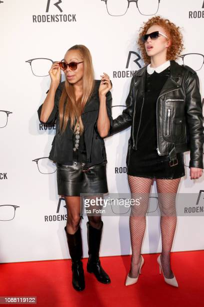Angela Ermakova and her daughter Anna Ermakova during the Rodenstock Eyewear Show 'A New Vision of Style' at Isarforum on January 24 2019 in Munich...
