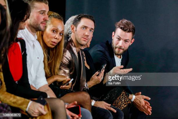 Angela Ermakova Marcel Remus and Erik Jaeger during the Rodenstock Eyewear Show 'A New Vision of Style' at Isarforum on January 24 2019 in Munich...