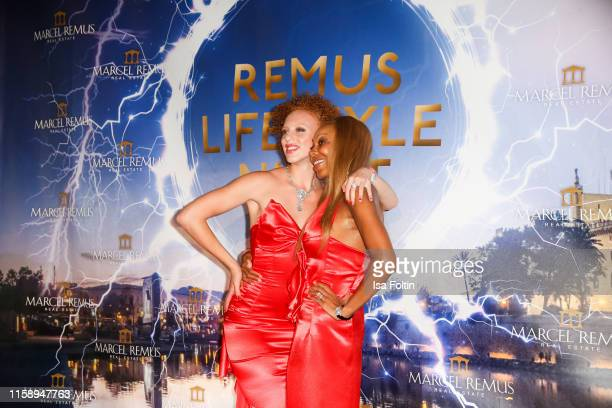 Angela Ermakova with her daugter Anna Ermakova attend the Remus Lifestyle Night on August 1 2019 in Palma de Mallorca Spain