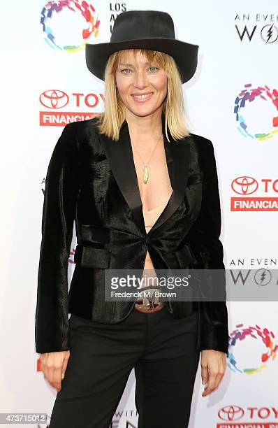 Angela Featherstone attends An Evening with Women Benefiting the Los Angeles LGBT Center at the Hollywood Palladium on May 16 2015 in Los Angeles...