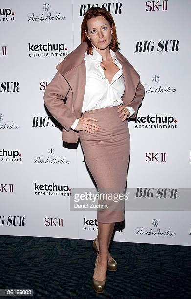 Angela Featherstone attends the 'Big Sur' premiere at Sunshine Landmark on October 28 2013 in New York City