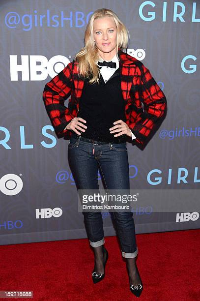 Angela Featherstone attends the HBO premiere of 'Girls' Season 2 at the NYU Skirball Center on January 9 2013 in New York City