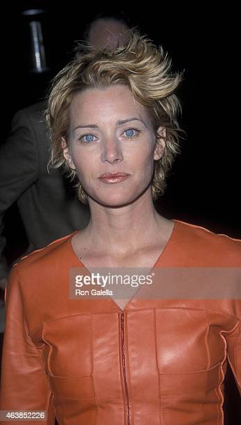 Angela Featherstone attends the premiere of '200 Cigarettes' on February 10 1999 at Paramount Studios in Hollywood California