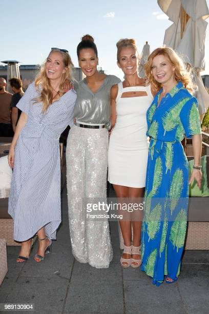 Angela Finger Erben Marie Amiere Kerstin Linnartz and Eva Imhof during the Ladies Dinner In Berlin at Hotel De Rome on July 1 2018 in Berlin Germany