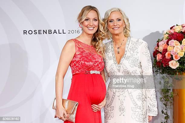 Angela FingerErben and Bettina von Schimmelmann attend the Rosenball 2016 on April 30 in Berlin Germany