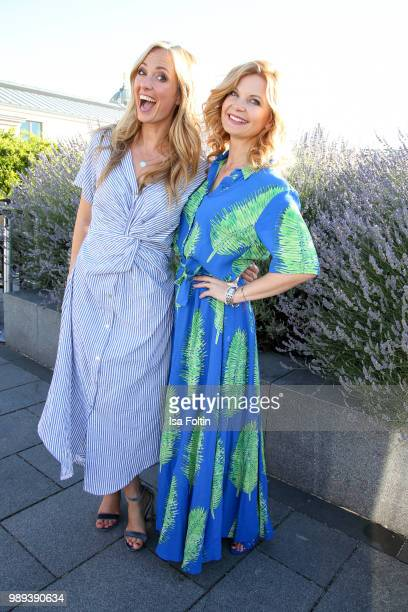 Angela FingerErben and Eva Imhof during the Ladies Dinner at Hotel De Rome on July 1 2018 in Berlin Germany