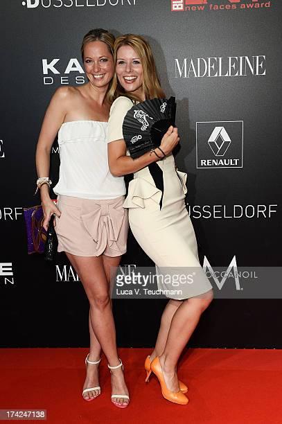 Angela FingerErben and Mirjam Lange attend the New Faces Award Fashion 2013 at Rheinterrasse on July 22 2013 in Duesseldorf Germany