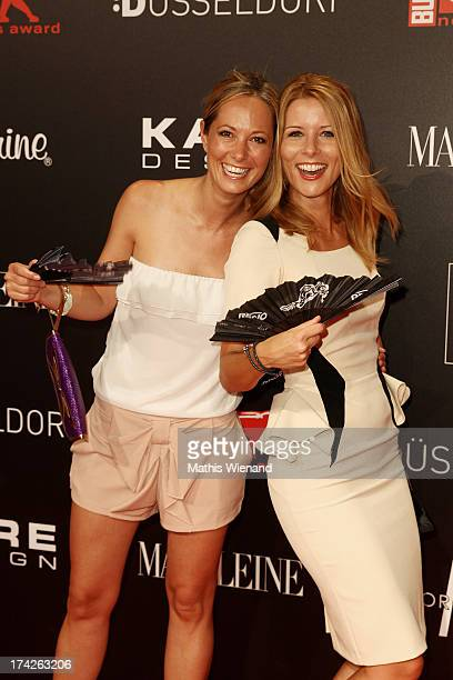Angela FingerErben and Mirjam Lange attend the New Faces Award Fashion 2013 at Rheinterrasse on July 22 2013 in Duesseldorf Germany
