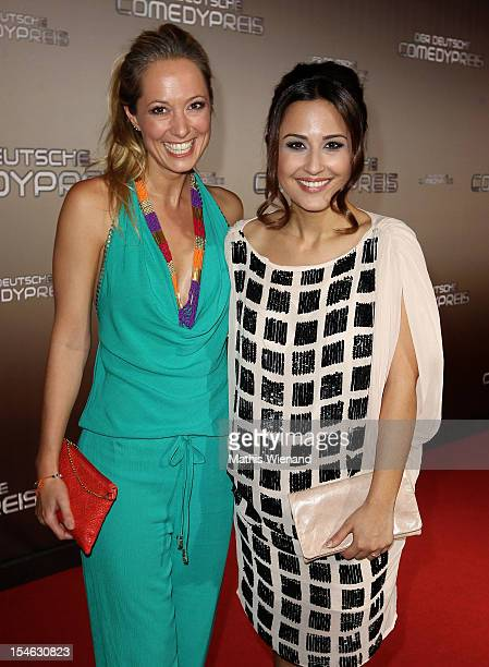 Angela FingerErben and Nina Moghaddam attend the '16 Annual German Comedy Award' on October 23 2012 in Cologne Germany