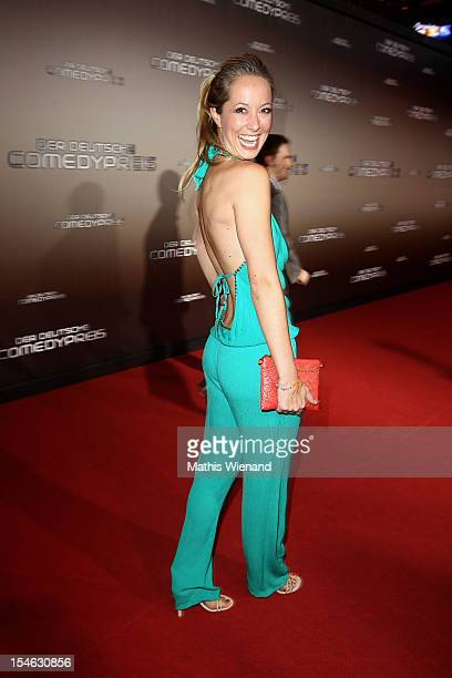 Angela FingerErben attends the '16 Annual German Comedy Award' on October 23 2012 in Cologne Germany