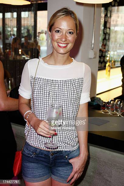 Angela FingerErben attends the 'ADONIA meets Duesseldorf' Concept Store Opening at GFG Concept Store at Schwanenhoefe on July 25 2013 in Duesseldorf...