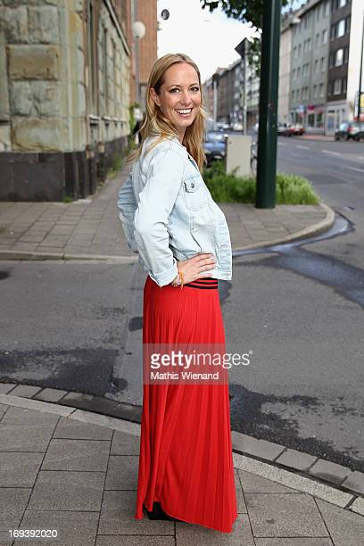 Angela FingerErben attends the LUXUSLASHES Lounge Opening on May 23 2013 in Dusseldorf Germany