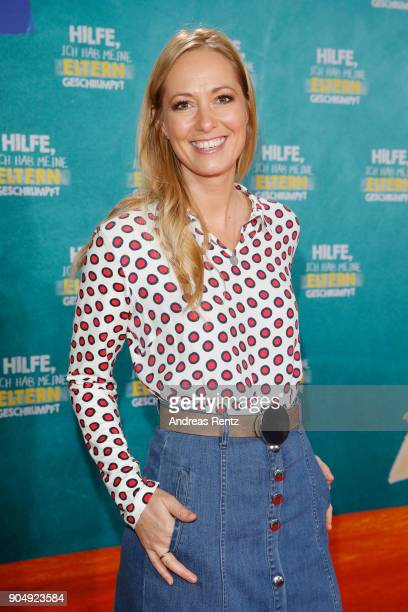 Angela FingerErben attends the premiere of 'Hilfe ich hab meine Eltern geschrumpft' at Cinedom on January 14 2018 in Cologne Germany