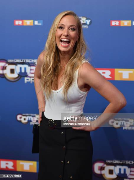 Angela FingerErben attends the red carpet at the 22nd Annual German Comedy Awards at Studio in Koeln Muehlheim on October 7 2018 in Cologne Germany