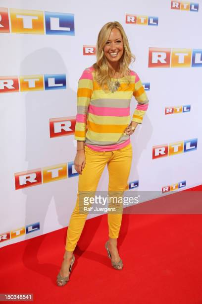 Angela FingerErben attends the RTL Programm press conference Season 2012/13 on August 16 2012 in Cologne Germany