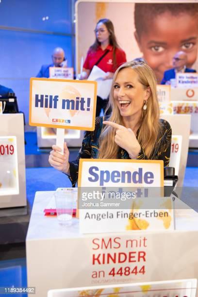 Angela FingerErben during the 24th RTL Telethon on November 22 2019 in Huerth Germany