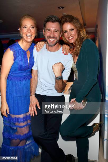 Angela FingerErben Jochen Schropp and Mareile Hoeppner attend the 'Bertelsmann Summer Party' at Bertelsmann Repraesentanz on June 22 2017 in Berlin...