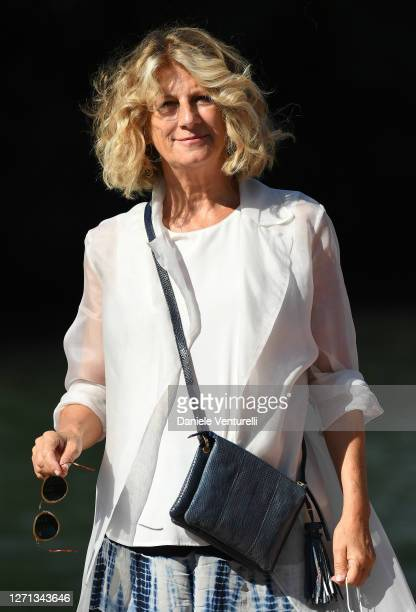 Angela Finocchiaro is seen arriving at the 77th Venice Film Festival on September 08 2020 in Venice Italy