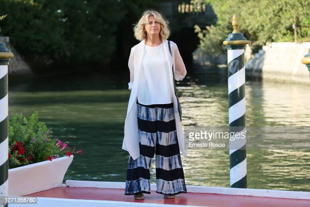 Angela Finocchiaro is seen arriving at the Excelsior during the 77th Venice Film Festival on September 08 2020 in Venice Italy