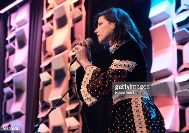 Angela Gail Mattson of In The Valley Below performs onstage at 101x during SXSW at Radio Day Stage on March 17 2018 in Austin Texas
