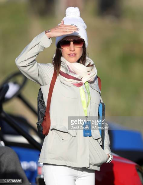 Angela Garcia during the Fourballs match on day two of the Ryder Cup at Le Golf National SaintQuentinenYvelines Paris
