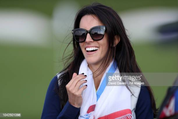 Angela Garcia during the Foursomes match on day one of the Ryder Cup at Le Golf National SaintQuentinenYvelines Paris