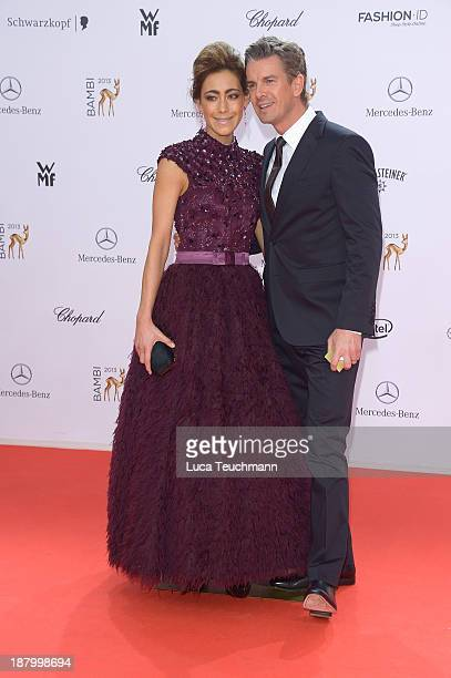 Angela Gessmann and Markus Lanz attend the Bambi Awards 2013 at Stage Theater on November 14 2013 in Berlin Germany