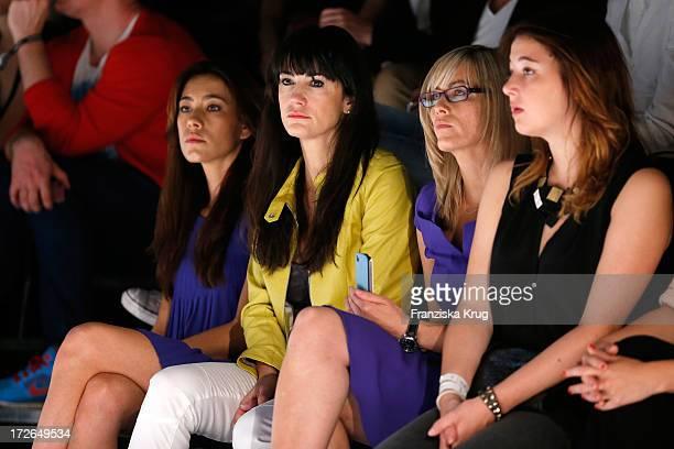 Angela Gessmann Mariella Ahrens Gesine Cukrowski and Sophie Marie Muehe attend the Laurel Show during the MercedesBenz Fashion Week Spring/Summer...