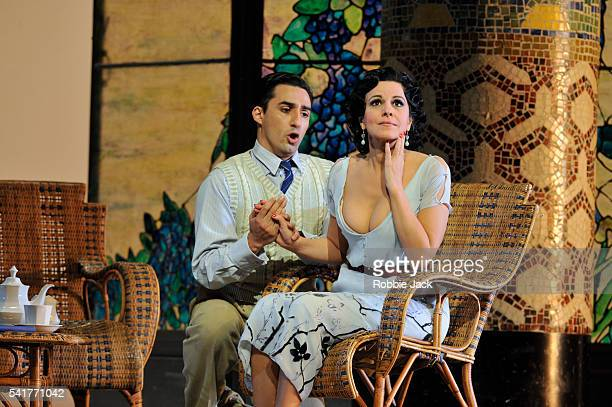 Angela Gheorghiu as Magda de Civry and Charles Castronovo as Ruggero Lastouc in the Royal Opera's production of Giacomo Puccini's La Rondine directed...