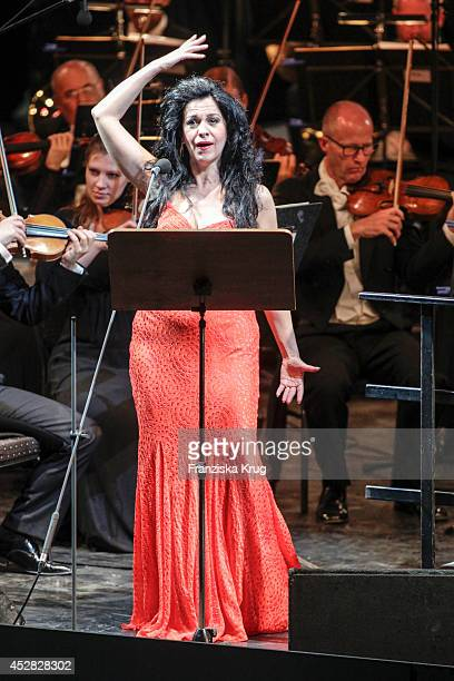 Angela Gheorghiu performs during the Thurn Taxis Castle Festival 2014 on July 27 2014 in Regensburg Germany