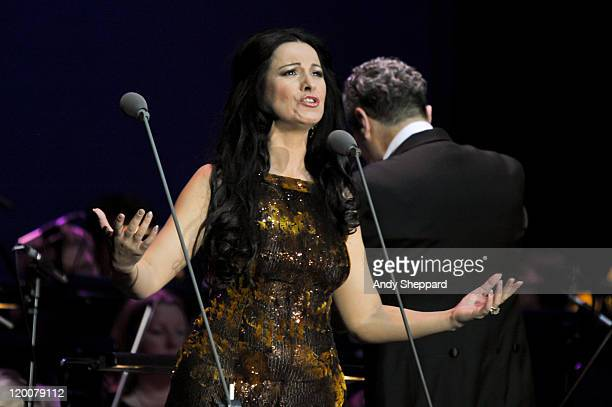 Angela Gheorghiu performs on stage at O2 Arena on July 29 2011 in London United Kingdom