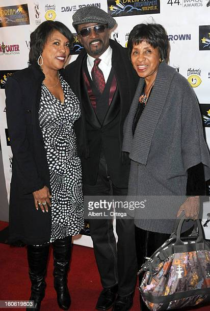 Angela Gibbs actor Clyde R Jones and actress Marla Gibbs arrive for the NAACP Image Awards Nomination Party featuring Woman Thou Art Loosed On THe...