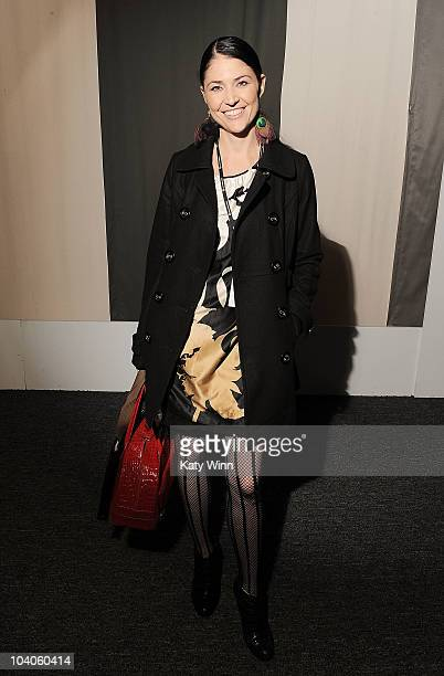 Angela Gilltrap attends MercedesBenz Fashion Week at Lincoln Center on September 13 2010 in New York City