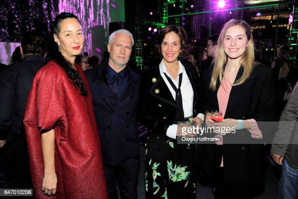 Angela Goding Klaus Biesenbach Lise Stolt Nielsen and Guest attend The Armory Party at Museum of Modern Art on March 1 2017 in New York City
