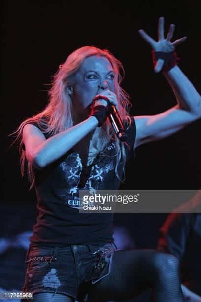Angela Gossow of Arch Enemy at Loud Park Festival at Saitama Super Arena in Saitama Japan