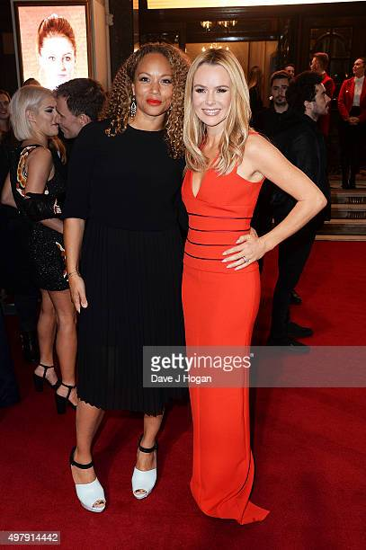 Angela Griffin and Amanda Holden attend the ITV Gala at London Palladium on November 19 2015 in London England