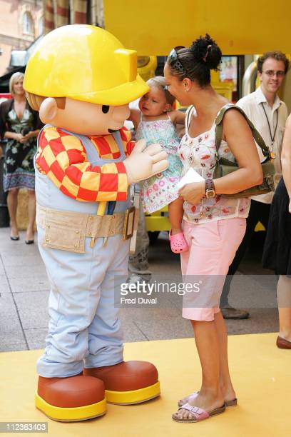Angela Griffin and child during Bob The Builder 'Built To Be Wild' London Premiere Outside Arrivals at Odeon West End in London Great Britain