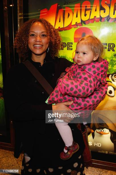 Angela Griffin and daughter Missy attend the UK Premiere of 'Madagascar Escape 2 Africa' at Empire Leicester Square on November 23 2008 in London...