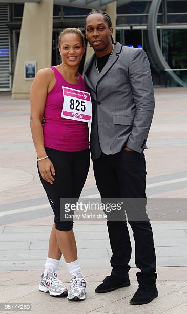 Angela Griffin and Lemar attend photocall for Race For Life London at 02 Arena on May 1 2010 in London England