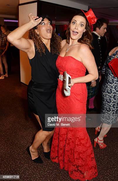 Angela Griffin and Sarah Parish attend 'The Odd Ball' 'hosted by The Murray Parish Trust at The Royal Garden Hotel on November 28 2014 in London...