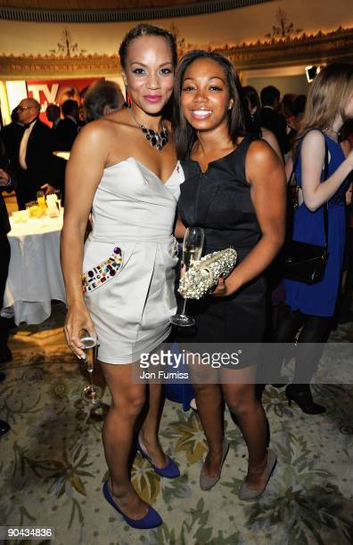 Angela Griffin and Zaraah Abrahams attend the TV Quick TV Choice Awards at The Dorchester on September 7 2009 in London England